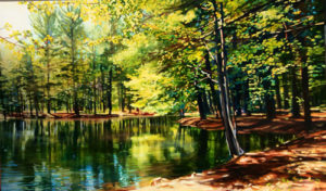Summer Pond by Michelle Courier