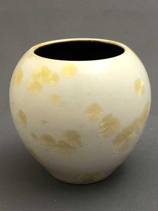 White Crystalline Vase by Brooks Bouwkamp