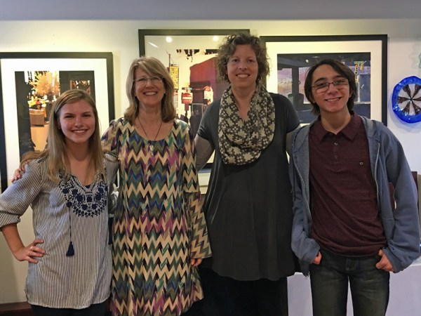 GHHS Student Art Show with students and sheri greene instructor Irene Sipes instructor