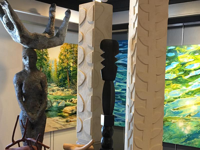 Sculpture, ceramics, paintings, glass, sculpture