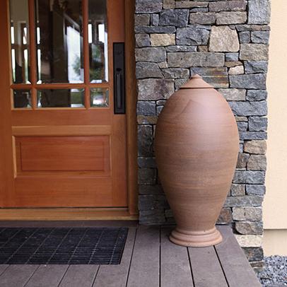 Large Vessel in doorway by Stephen Procter