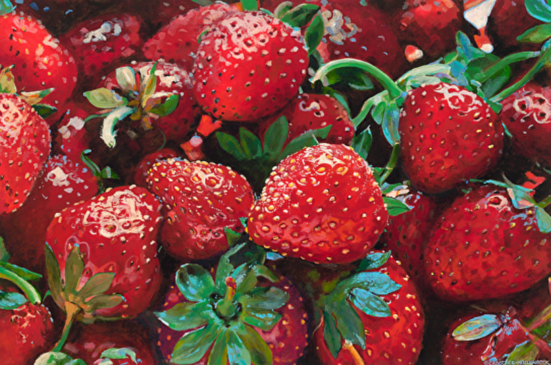 Forever Strawberries painting by Laura Crabtree Hollenbeck
