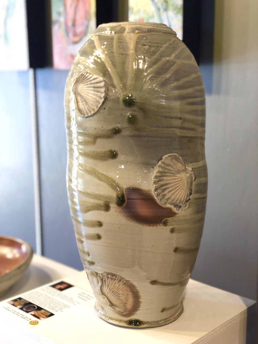 Wood fired vase by Julie Devers