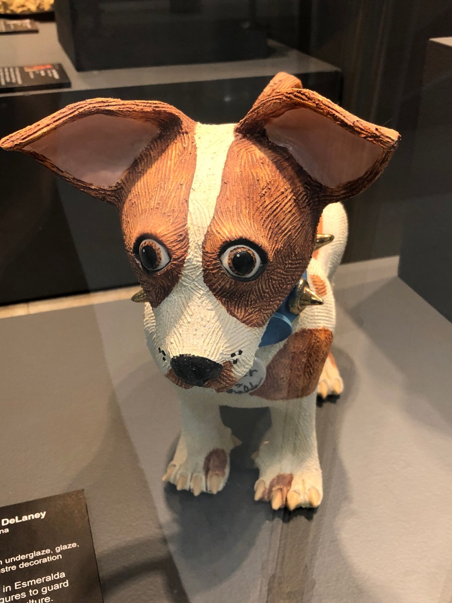 Ceramic dog, unknown maker