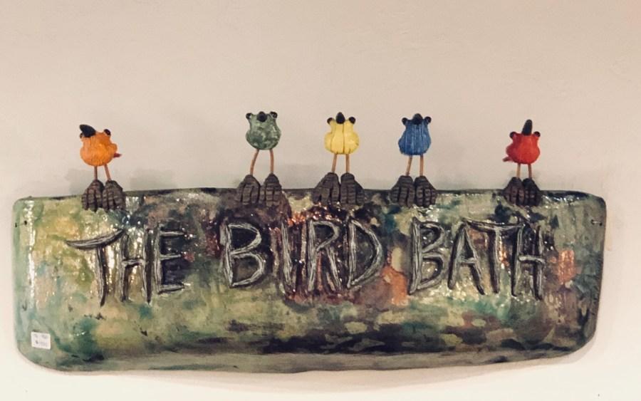 Ceramic Bird bath by Tonya Rund
