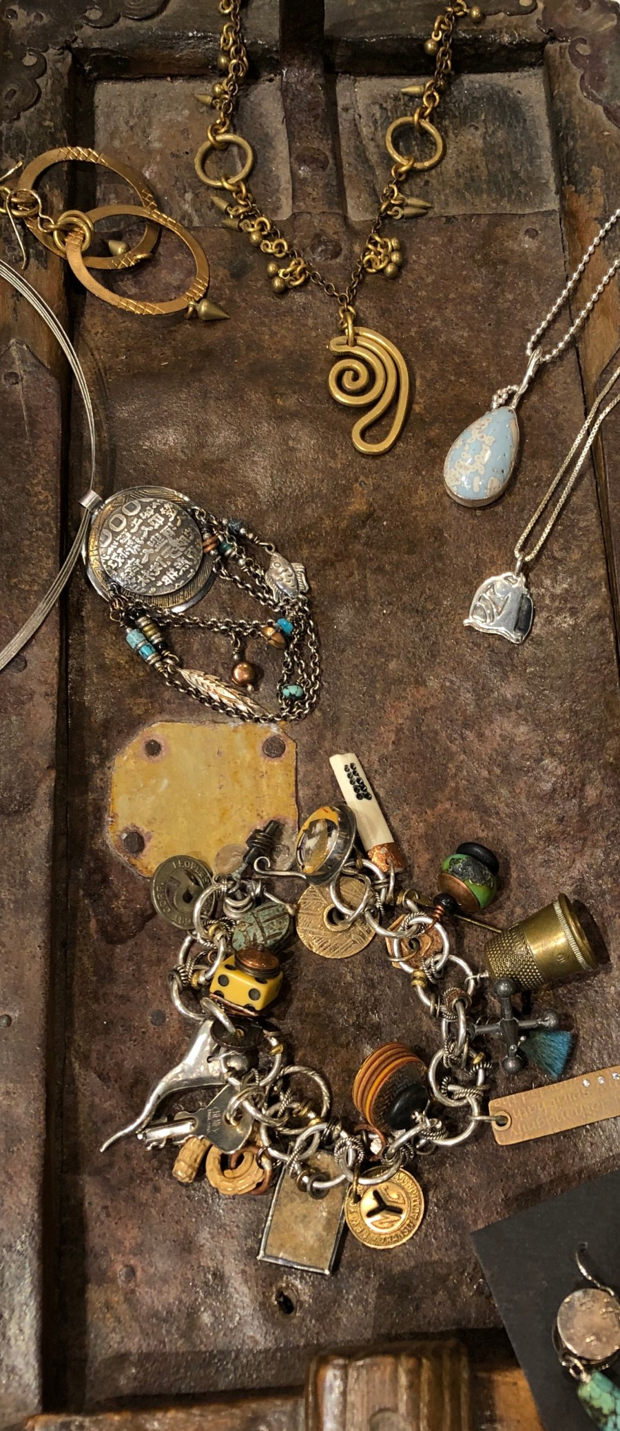 Hand-fabricated jewelry by Anne Morgan, Julie Sanford, and Lochlin Smith