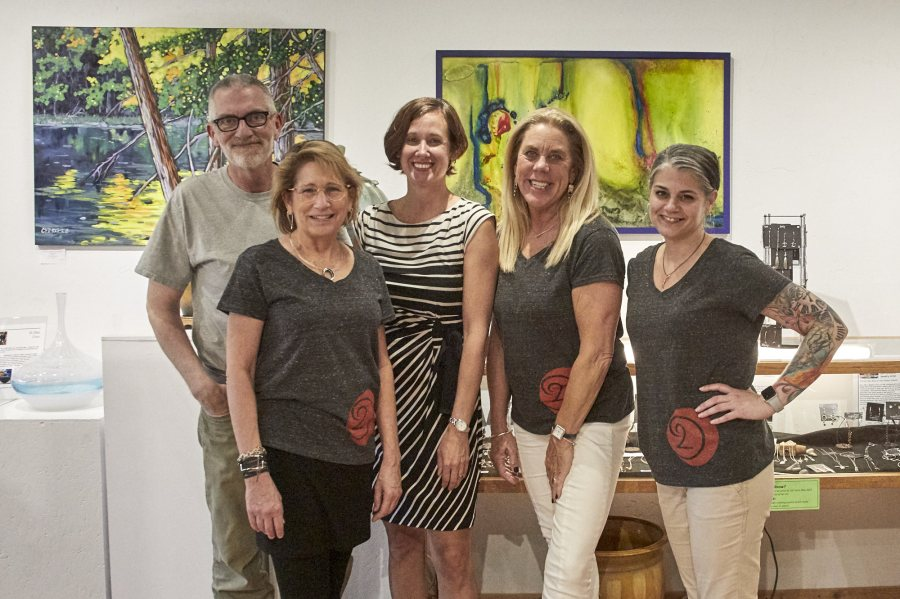 Bob Walma, Cyndi Casemier, Christi Dreese, Julie Minnema, Sarah Mattone on First Friday 2019