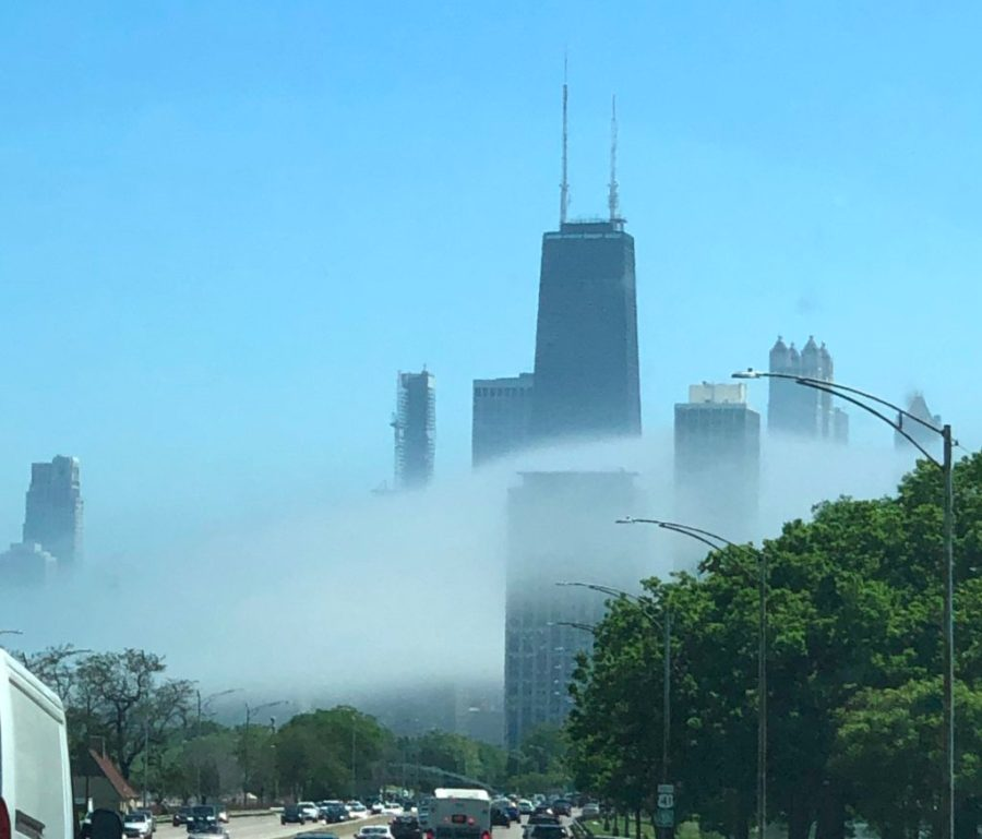 Lakeshore Drive headed into Chicago