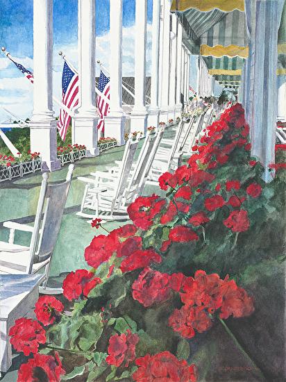 Grand Hotel on Mackinaw Island painting