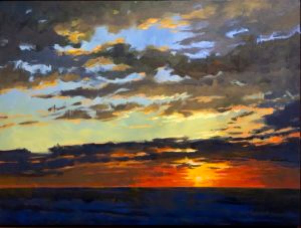 Sunset Painting by mark mehaffey