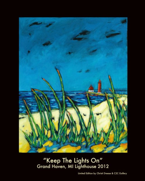 lighthouse painting poster by christi dreese