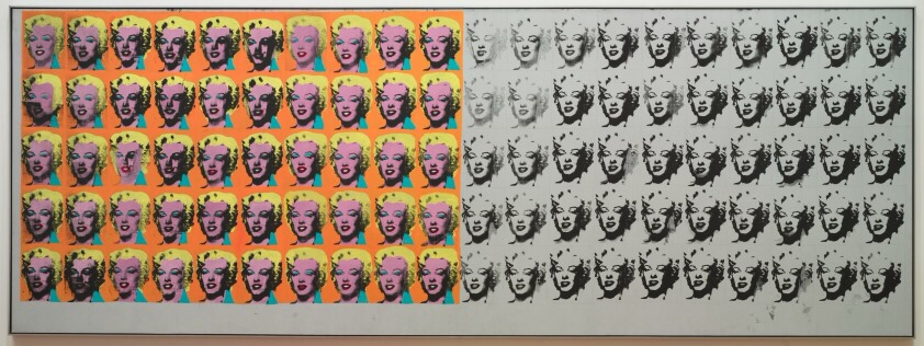 Andy Warhol's Marolyn Monroe screen print