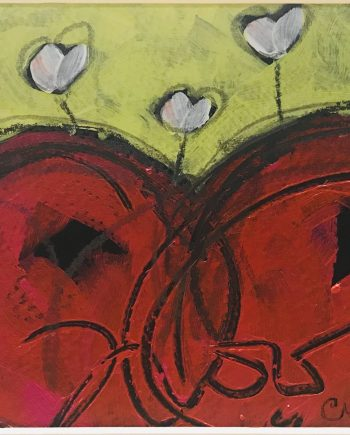 original heART oil painting by Christi Dreese