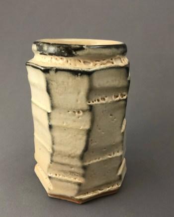 handmade vase in octagon shape