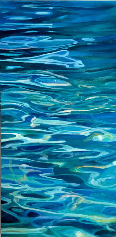 abstract water painting by michelle courier