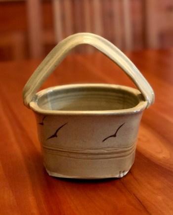 little handmade ceramic basket