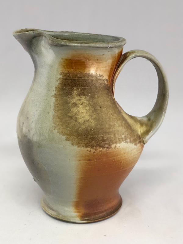side 2 view of wood fired mini pitcher by Julie Devers