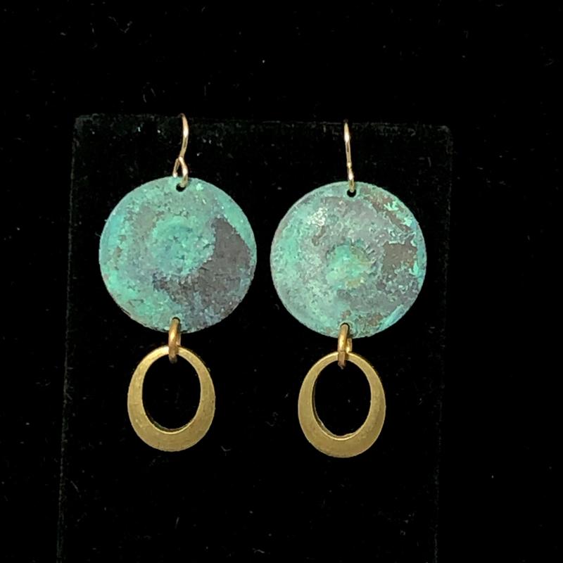 TealGold Lochlin Oval Drop Earrings