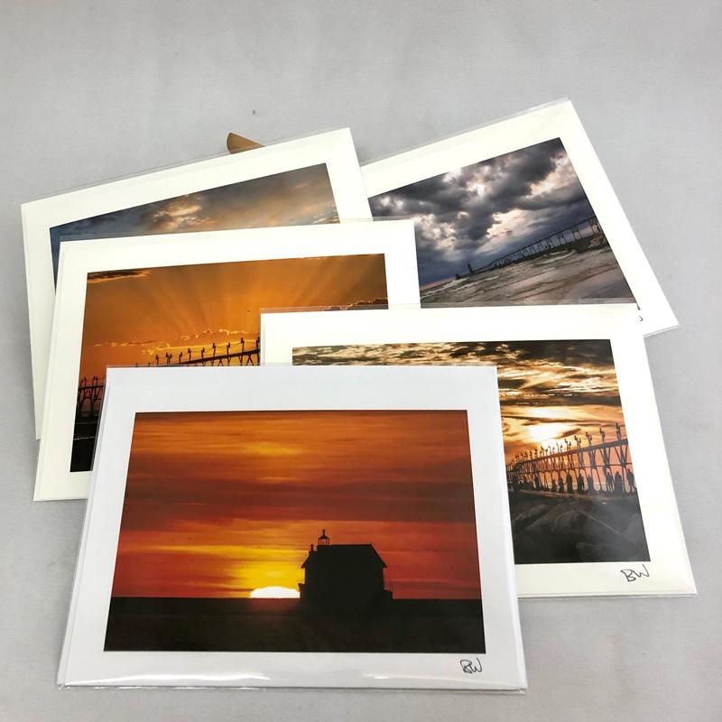 Grand Haven Greeting Cards by Bob Walma