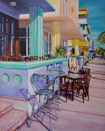 original acrylic painting, ocean drive, by Michelle Courier