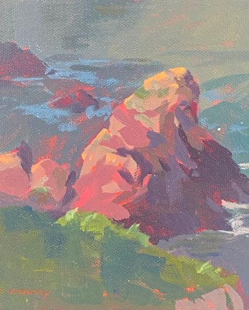 landscape painting by mark mehaffey