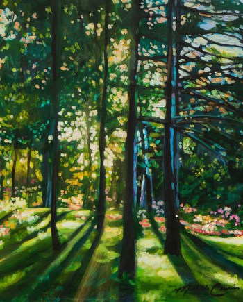 spring acrylic landscape painting by michelle courier