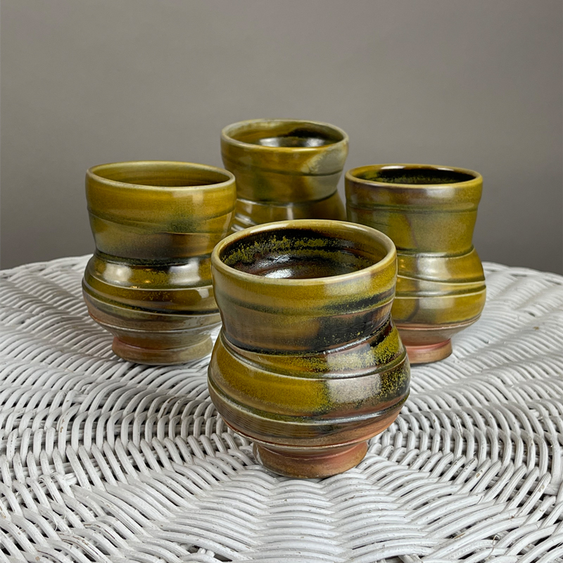 handmade cups wood fired by julie devers great for bourbon or whiskey sipping