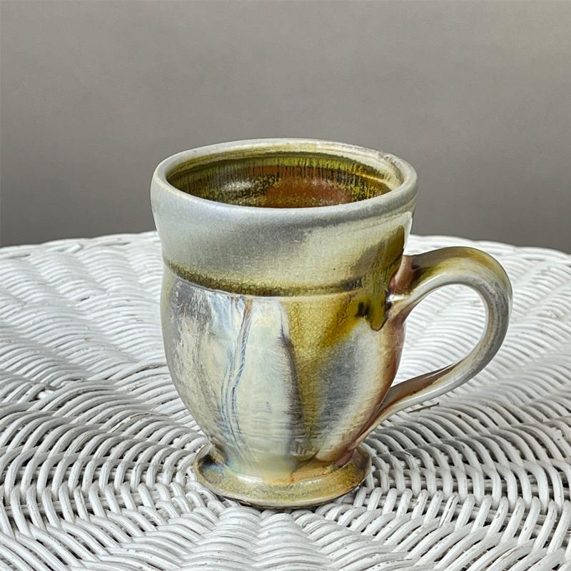 handmade ceramic mug wood fired by julie devers