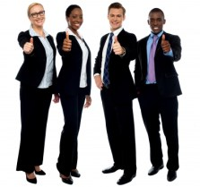 Business Persons Thumbs Up