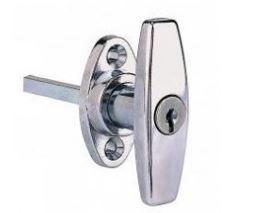 Poignée bouton à clé