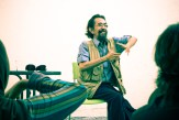 Late Slamet Abdul Sjukur, giving acoustic workshop for our children festival, Eat Play Laugh, 2011