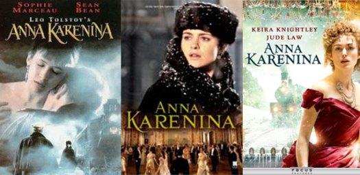 Beberapa adaptasi layar kaca Anna Karenina (1997, 2013, 2012)