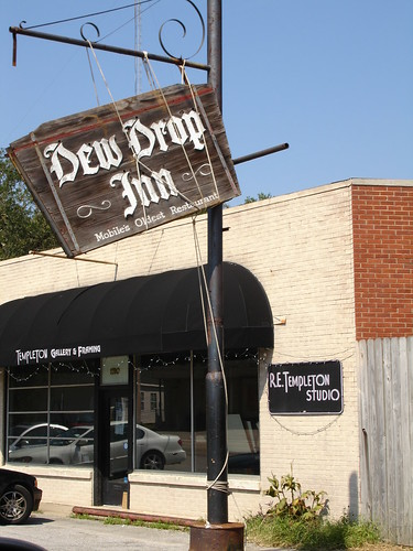 Hurricane Katrina - Dew Drop Inn Sign in Mobile Hanging On