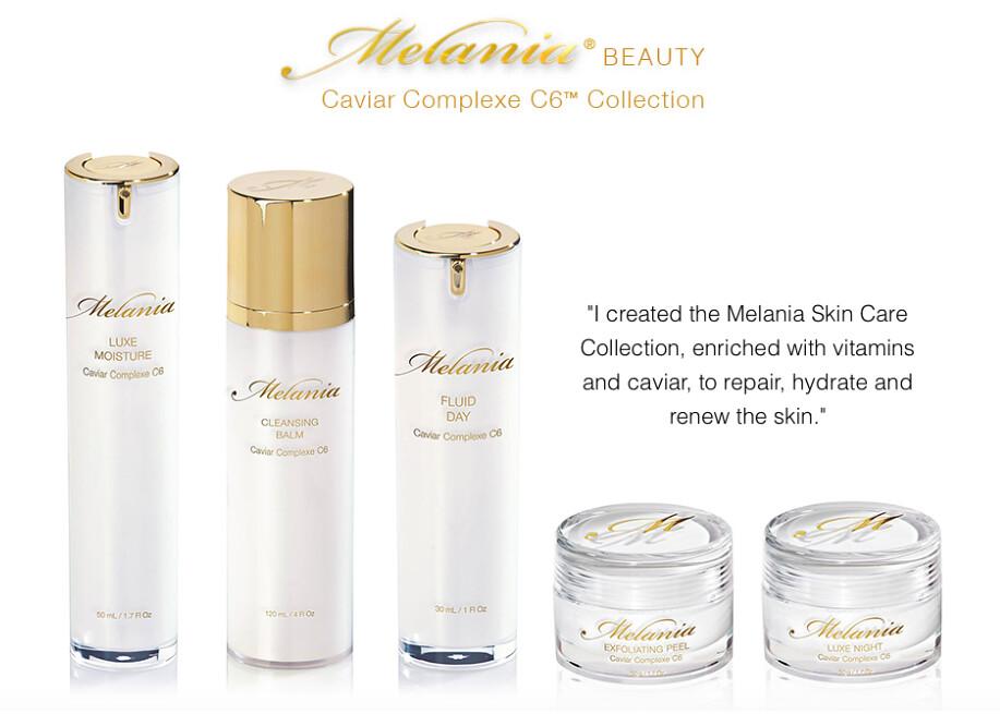 圖說:沒有大賣但也賺了不少的Melania自創保養品系列。