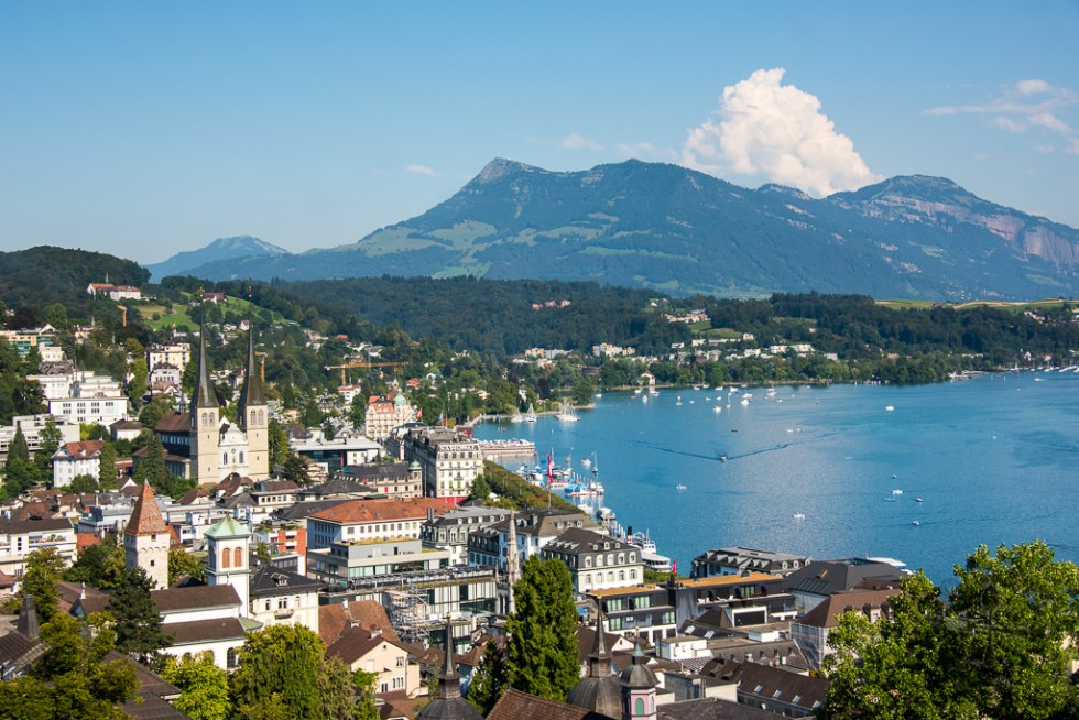 Lucerne View from Zyt