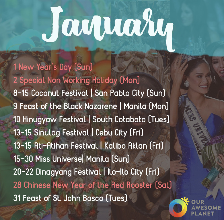 2017 Festivals & Holidays