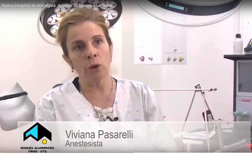 Viviana Pasarelli. Anestesista. Nuevo Hospital de Andalgalá