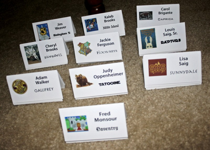 Geeky Place Cards