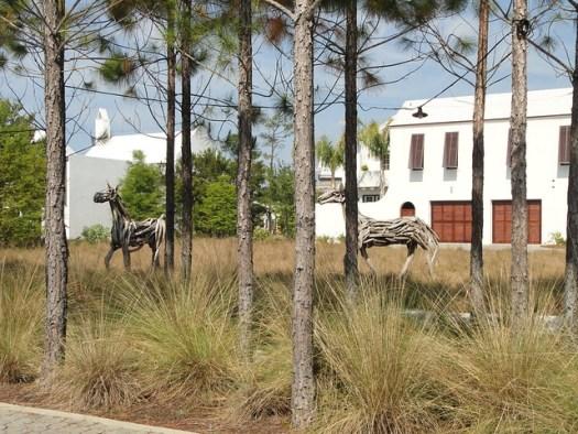 Driftwood Horses by Heather Jansch at Alys Beach 30A