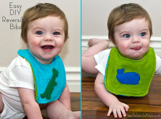 Easy DIY Reversible Bib