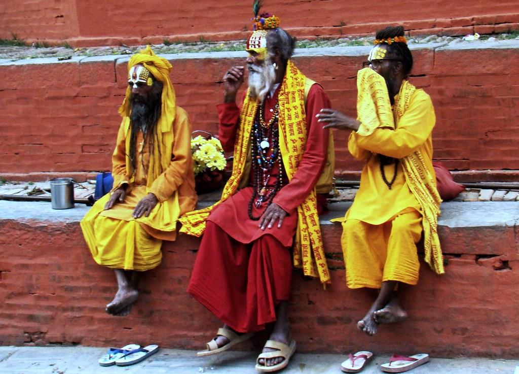Nepal su gente caras pintadas 029