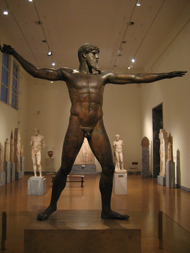 Dios del Cabo Artemisio en el Museo Arqueológico Nacional de Atenas. ViajerosAlBlog.com.