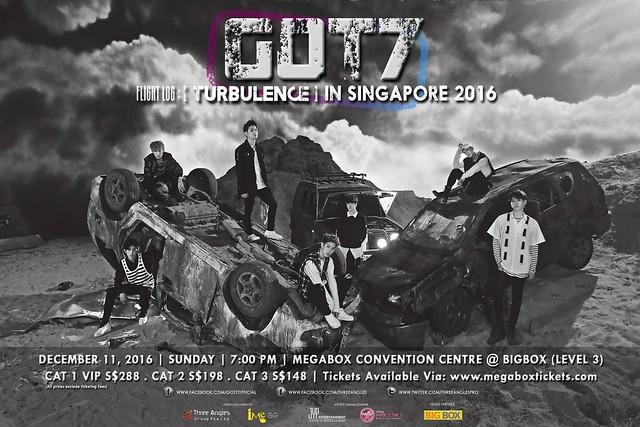 "GOT7 ""Flight Log TURBULENCE"" In Singapore 2016"