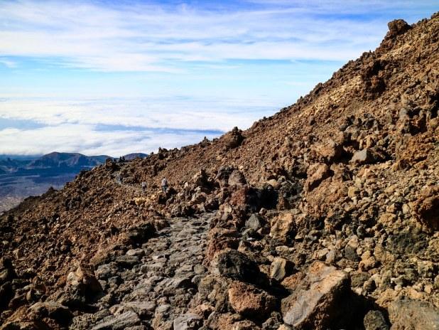 Sendero parque nacional Teide