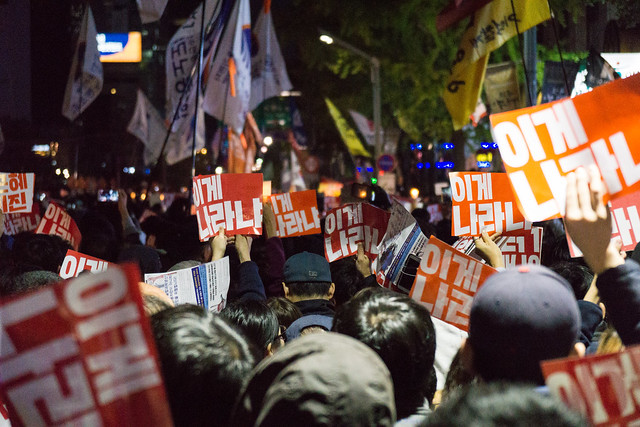 Protest in Seoul 2016-10-29