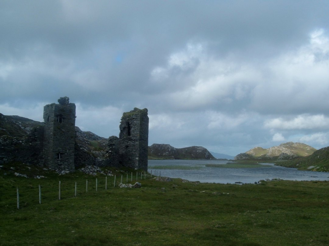 The tower of Dunlough castle close to the lake is said to be haunted
