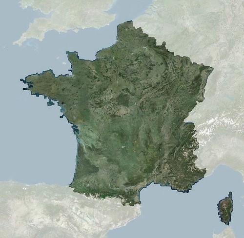 La France dans l'Europe et Régions de France vues de l'espace