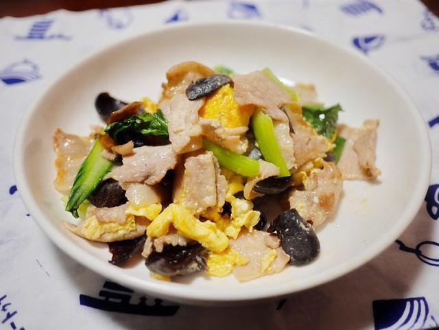 豚バラと卵の中華炒め