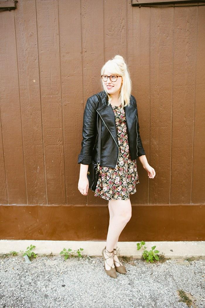 writes like a girl vintage floral dress bb dakota pierre moto jacket5