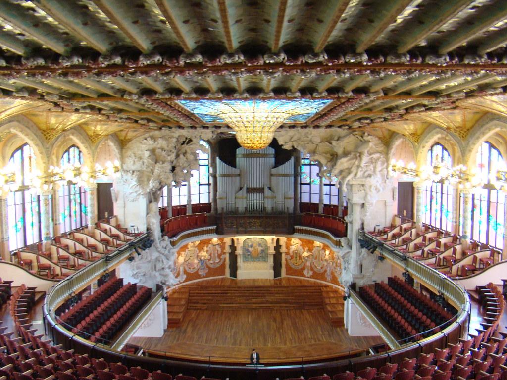Palacio de la Música Catalana interior Barcelona 09